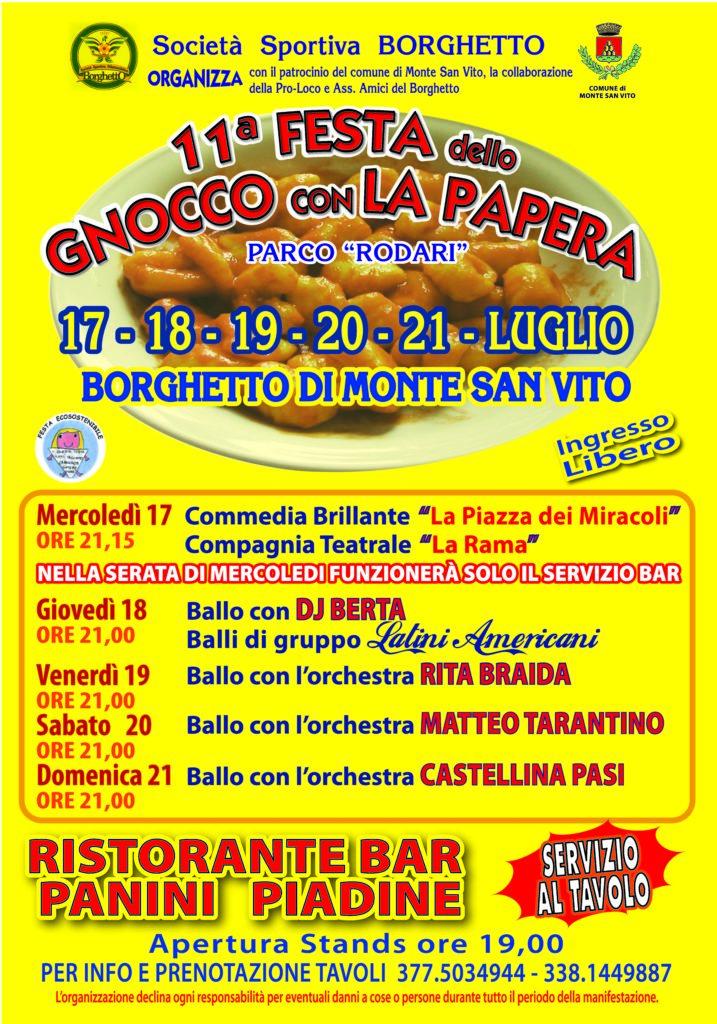 FESTA GNOCCO ALLA PAPERA 2019 70x100